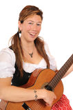 Dirndl and guitar Royalty Free Stock Image