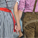 Dirndl and Lederhosen Stock Images