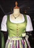 Dirndl. Part of a typical bavarian dirndl stock image
