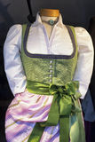 Dirndl. Part of a typical bavarian dirndl stock photography