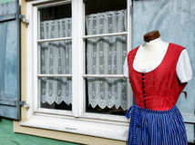 Dirndl. Part of a typical bavarian dirndl royalty free stock photos