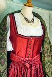 Dirndl. Part of a typical bavarian dirndl royalty free stock photography