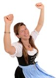 Dirndl. Woman with a Bavarian Dirndl royalty free stock images