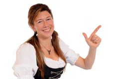 Dirndl. Woman with a Bavarian Dirndl stock photography