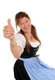 Dirndl. Woman with a Bavarian Dirndl royalty free stock photography