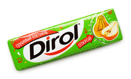 Dirol chewing gum Stock Photo