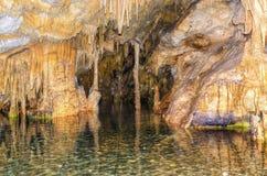 Diros Höhlen lizenzfreies stockbild