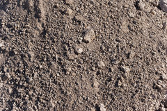 Dirt. Just plain dirt pattern background and texture. From construction site Stock Photography