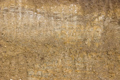 Dirt background after working excavator Royalty Free Stock Photography