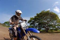 Dirt Bike. Close view of a dirt biker stock image
