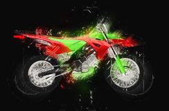 Dirt Bike Glowing Stock Image