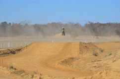 Dirt Bike Jumping High Stock Image