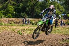 Dirt Bike Jumping Stock Photo
