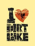 Dirt bike print Stock Images