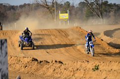 Dirt Bike and Quad ATV Out for a Ride Royalty Free Stock Photos