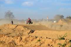 Dirt Bike and Quad ATV Racing Stock Images
