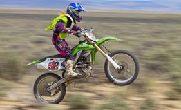 Dirt Bike Racer Wheelie Royalty Free Stock Image