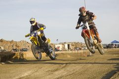 Dirt bike racers Royalty Free Stock Images