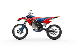 Dirt Bike Red - Side View Royalty Free Stock Photo