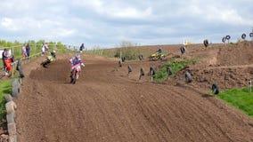 Dirt Bike Riders Racing stock video