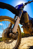Dirt Bike Sunshine Closeup stock photo