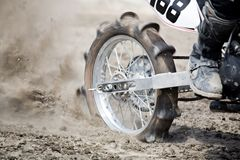Dirt bike wheel Stock Images