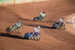 Dirt bikers in formation Royalty Free Stock Photos