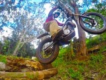 Dirt biking Trials Stock Photo