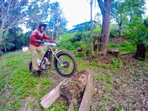 Dirt biking Trials Stock Photography