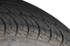 Dirty car tyre or wheel Stock Images