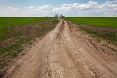 Dirt country road Royalty Free Stock Image