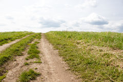 A dirt country road Stock Photography