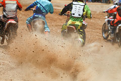 Dirt debris from a motocross race Stock Image