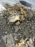 Dirt. Dug from hole construction and industrial royalty free stock photos