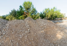 Dirt and gravel a Mediterranean construction site Stock Photo