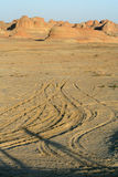 Dirt hills in desert Stock Photography
