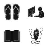 Dirt, infection, hygiene and other web icon in black style.work, education, microbes icons in set collection. Dirt, infection, hygiene and other  icon in black Royalty Free Stock Photos