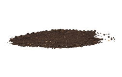 Dirt isolated on white background Stock Photo
