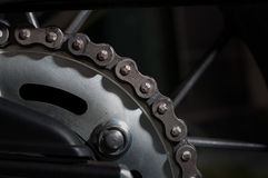 Dirt motorcycle chain Stock Photos