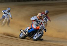 Dirt motorcycle race Stock Image