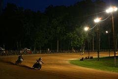 Dirt motorcycle racing Stock Images