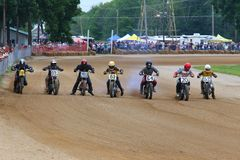 Dirt motorcycle racing Royalty Free Stock Photography