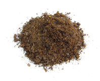 Dirt Mound. Top view of a mound a dirt Stock Image