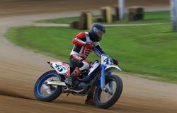 Dirt oval track racing Royalty Free Stock Image