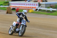 Dirt oval track racing Royalty Free Stock Photography