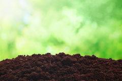 Dirt. Over sunny nature background Stock Image