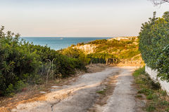 Dirt path to the sea Stock Images