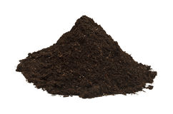 Dirt Pile. Brown Soil in a Dirt Mound Isolated on White Background royalty free stock images