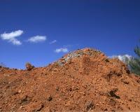 Dirt piled high arrow shaped c Royalty Free Stock Photos