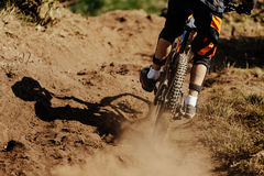 Dirt rear wheel of bicycle Royalty Free Stock Photography
